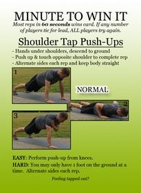 Minute 2 Win It Shoulder Tap Push-Ups
